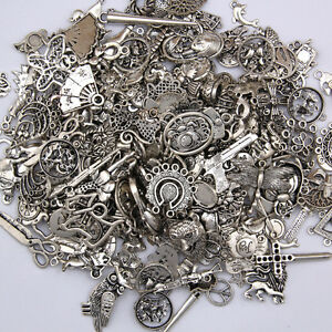 DIY-Jewelry-Craft-Findings-Wholesale-100g-Antique-Tibetan-Silver-Charms-Pendants