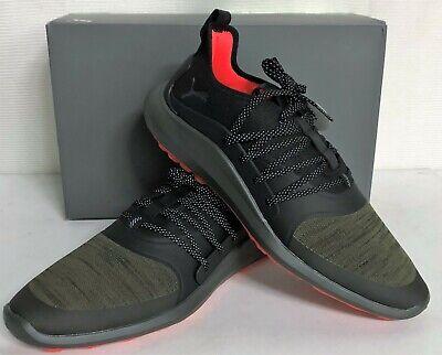 Puma Ignite NXT SOLELACE Spikeless Mens Golf Shoes Burnt Olive Silver Black   eBay