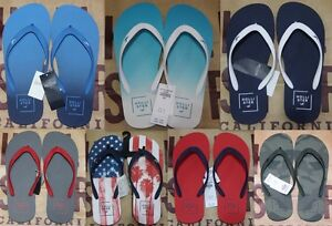 NWT-Hollister-Men-Graphic-Rubber-Logo-Flip-Flop-Slippers-By-Abercrombie-amp-Fitch