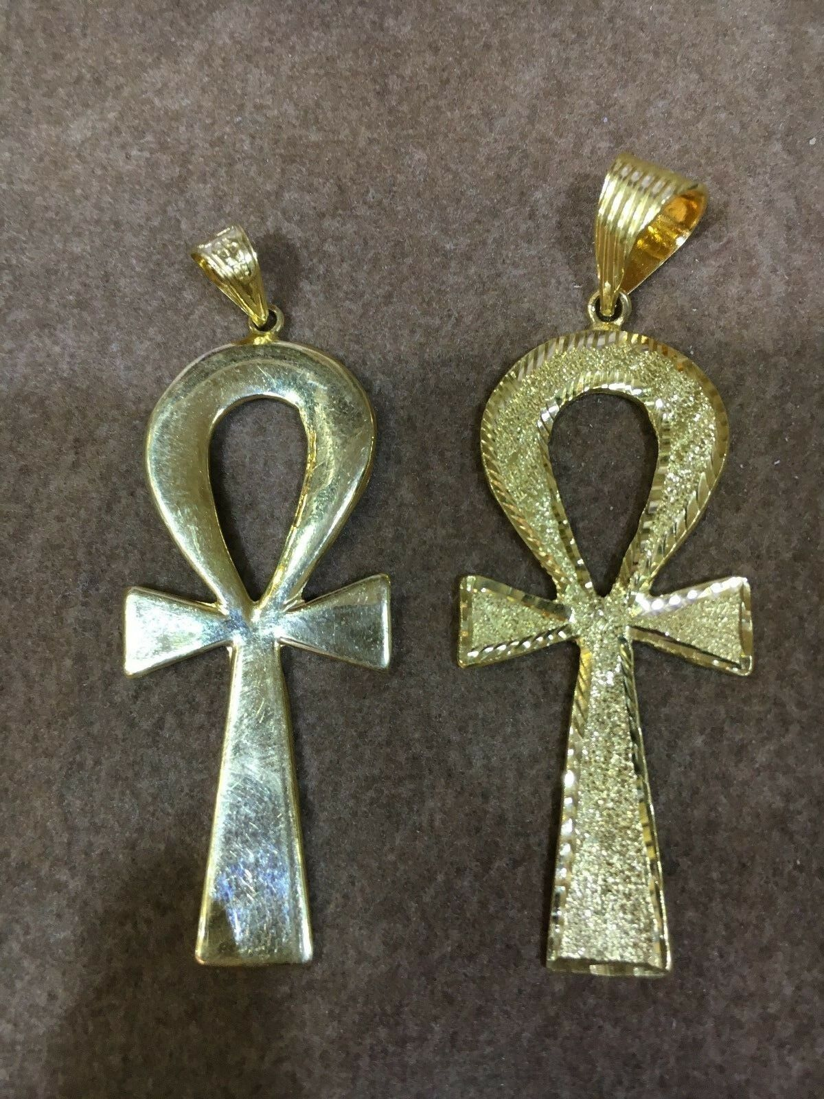 Egyptian Key of Life Yellow gold Pendant 18K Stamped (11g) Free Shipping