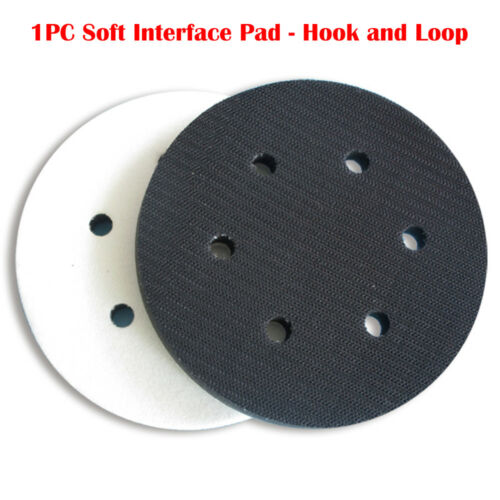 """6/"""" 150mm Interface Cushion Pad 6 Hole Hook and Loop Foam Protecting Sanding Disc"""