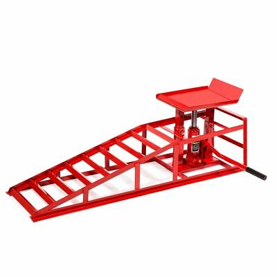 Auto Car truck Service Ramps Lifts Heavy Duty Hydraulic Lift Repair Frame Red