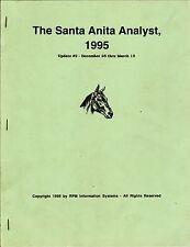 1995 THE SANTA ANITA ANALYST UPDATE 2   HORSE RACING