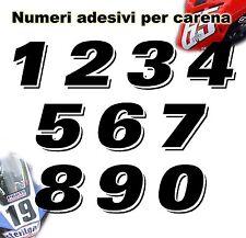 Numeri adesivi - uso gara pista tuning - cod. n10