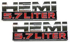 x2 5.7L Hemi Emblem Replaces OEM Mopar 68149700AB / 68149700AA Dodge Ram 1500