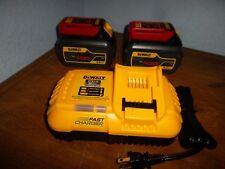DEWALT DCB118 20V / 60V Fan Cooled Battery Charger & TWO DCB606 BATTERY PACKS