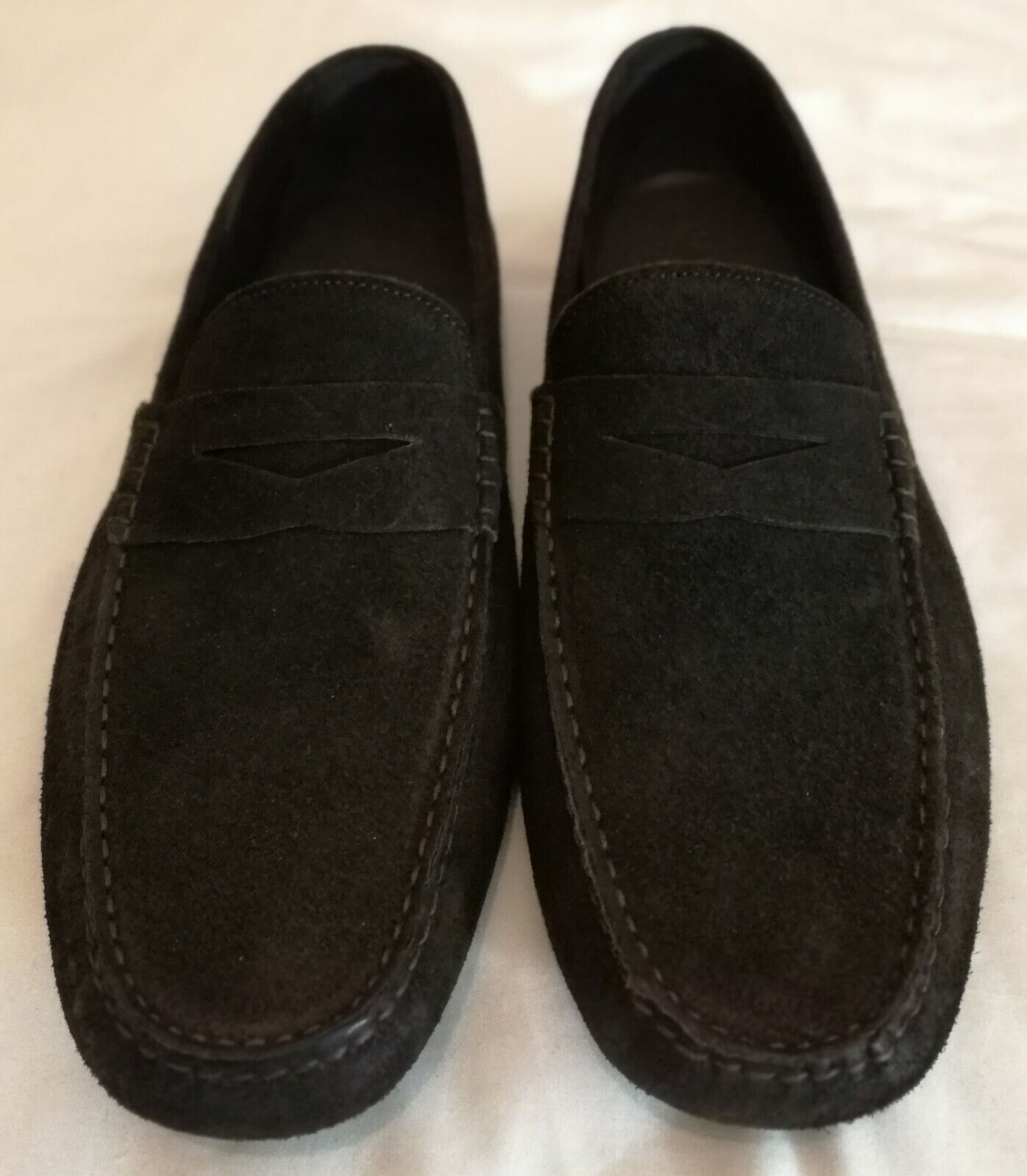 Madison Suede Leather Slip-on Loafers Moccasin braun uk 9 eu 43 Made in