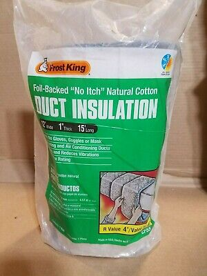 L FROST KING CF55 Duct Insulation,Cotton,15 ft