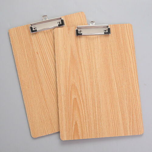 AA A4 Größe Holzern Klemmbrett Clip Platte Schule Bürobedarf mit Hängender L