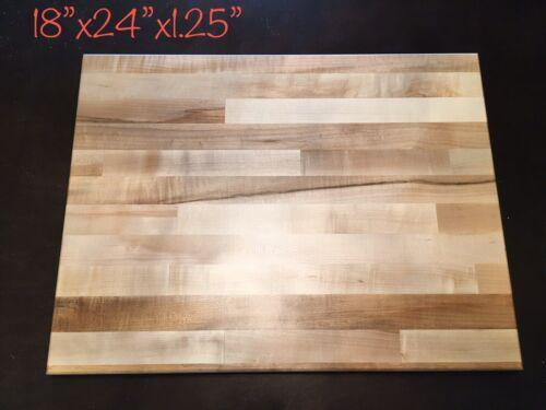 Michigan Maple Large Hardwood Butcher Block Cutting Board 18x24x1.25