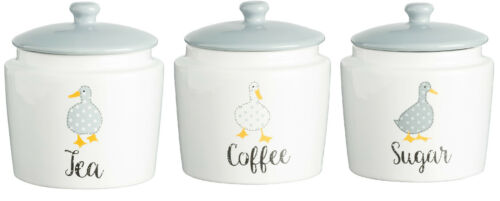 Tea Coffee Sugar Canisters By Price /& Kensington Fine China Pastel Colours