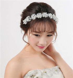 Image Is Loading Wedding Bridal Hairband Headpiece Tiara Party Crystal Bride