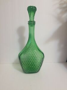 Vintage-Mid-Century-Emerald-Green-Decanter-Made-In-Italy-1960