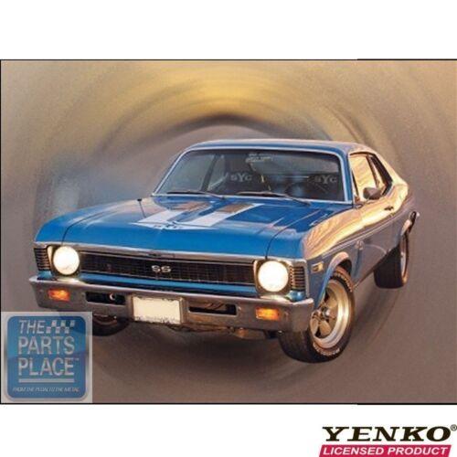 1969 Chevrolet Camaro Chevelle Gloss Black Nova Yenko Vinyl Stripe Kit
