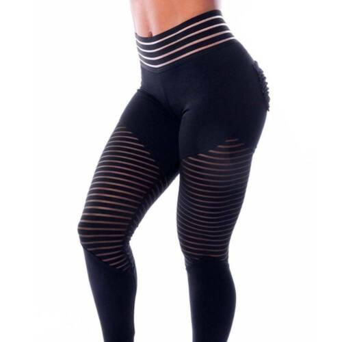 Womens Yoga Pants Butt Lift Leggings Pockets Sports Fitness Gym Stretch Trousers