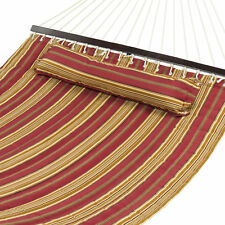 Hammock Quilted Fabric With Heavy Duty Stylish Pillow Double Size Spreader Bar