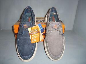 6defa80e70a8 Skechers Mens New NIB Relaxed Fit Status Melec Men s Boat Shoes ...