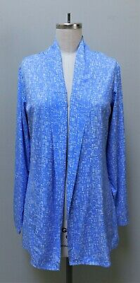 nwt Coolibar Periwinkle Blue Print Open Cardigan Aire Sun Wrap UPF 50+ S | eBay