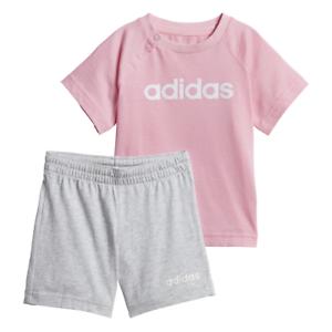 católico masilla Diverso  Adidas Bebé Conjunto Camiseta Pantalones De Verano Moda Infantil Niñas Niños  Correr Nuevo DV1269 | eBay