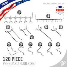 120 Pc Pegboard Hook Assortment Variety Set Garage Storage Shelf Hanger Organize
