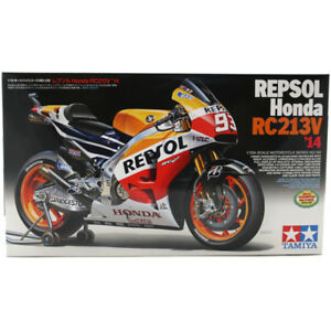 Tamiya-Repsol-Honda-RC213V-039-14-Motorcycle-Model-Set-Scale-1-12-14130-NEW