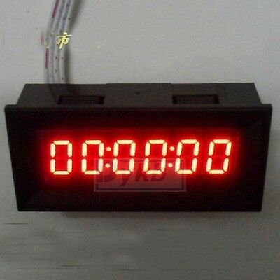 new 0-999999 6 Digit LED Counter Panel Meter DC 8v-12V Up Plus Totalizer dc 5v