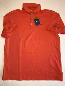 Tommy-Bahama-New-Beverly-Hills-Leisure-Tech-Polo-Men-039-s-Medium-MSRP-120-Orange