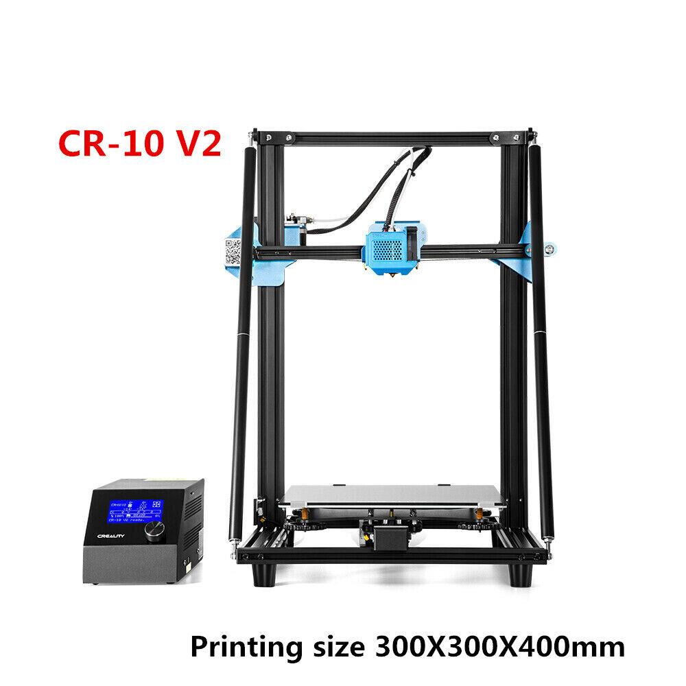 Genuine Creality CR-10 V2 3D Printer 300X300X400mm Mean Well Power Dual Z aixs 300x300x400mm aixs Creality dual genuine mean power printer well