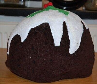 Glorioso Nuovo * Budino Di Natale * Natale Vuote * Fleece Teschio Equitazione Per Casco Copertura-mostra Il Titolo Originale