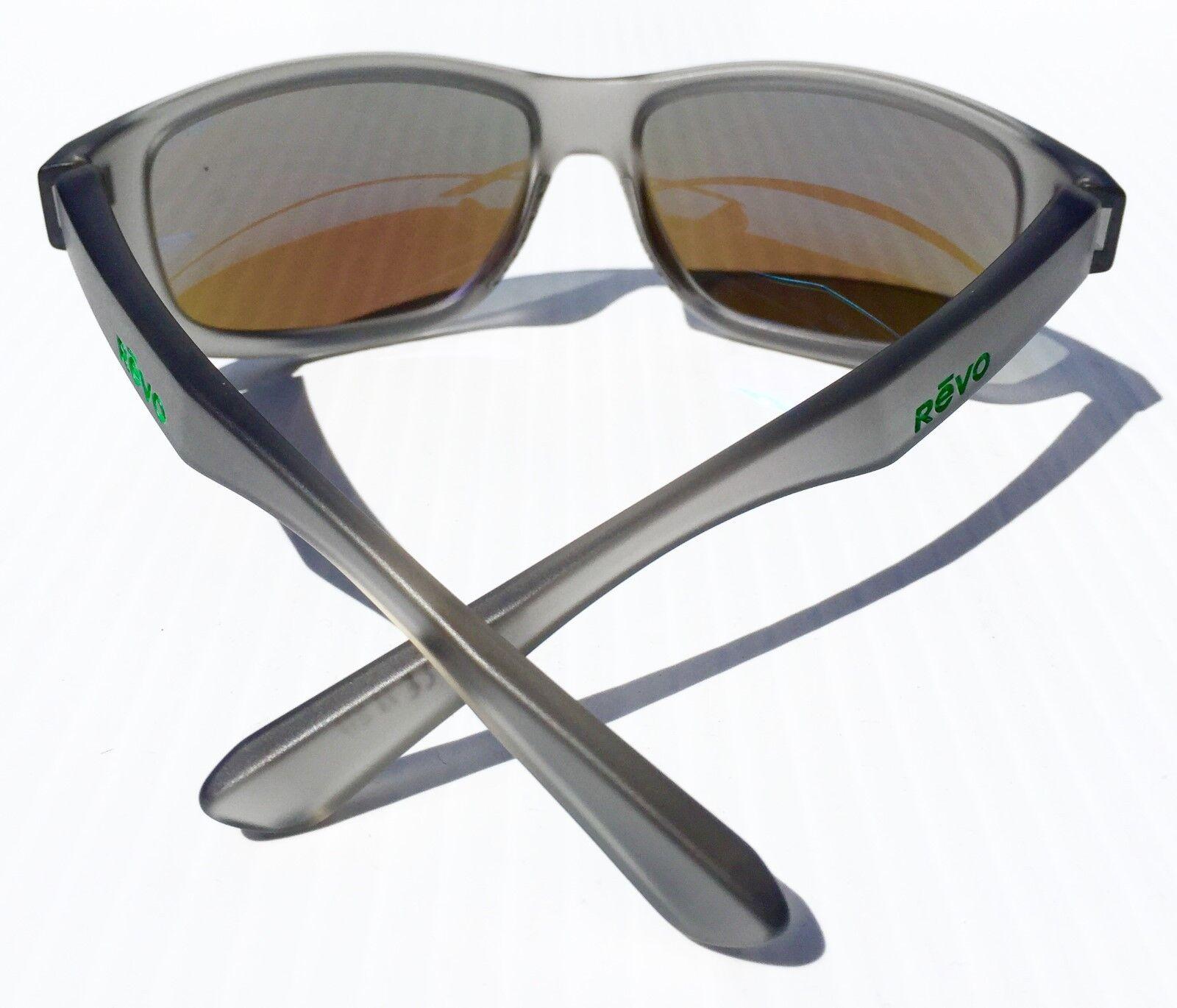 bd9f5b2ff5a58 New  REVO Baseliner Matte Grey Polarized Blue Water Angler Lens Sunglass  1006 00 for sale online