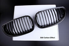 BMW NEW CARBON LOOK FRONT KIDNEY GRILLS ALL E60 E61 5 SERIES 520 525 530 535i M5