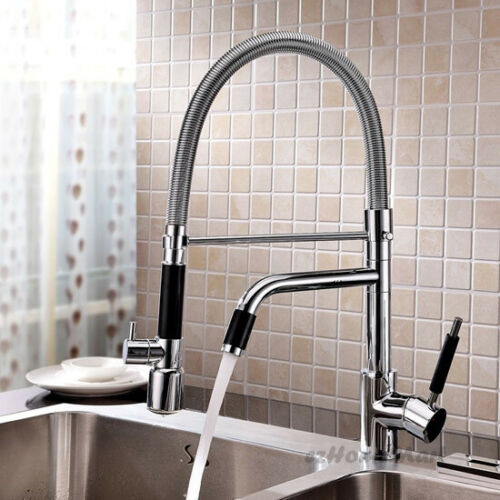 Luxury LED Kitchen Sink Mixer Tap with Pull Down Hand Shower Swivel Bar Faucet