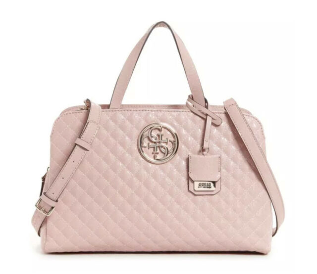 Guess Sac À Main Gioia Girlfriend Satchel Rosa