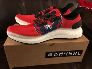 86daef7db24 Image is loading adidas-SPEEDFACTORY-AM4NHL-Washington-Capitals -Stanley-Cup-Shoes-