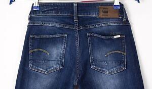 G-Star Raw Damen 3301 Gerade Stretch Jeans Größe W27 L32 ARZ481