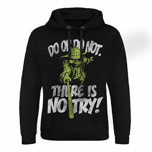 S Taglia con licenza ufficialmente Nero c'è con Felpa nessuna Wars Yoda cappuccio Epic xxl Non prova Star TwPZOWqHP