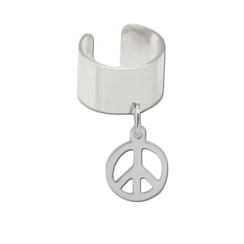 1 Ear cuff earcuff schlichte Ohrklemme Ohrring zum klemmen Stern Blatt Kette