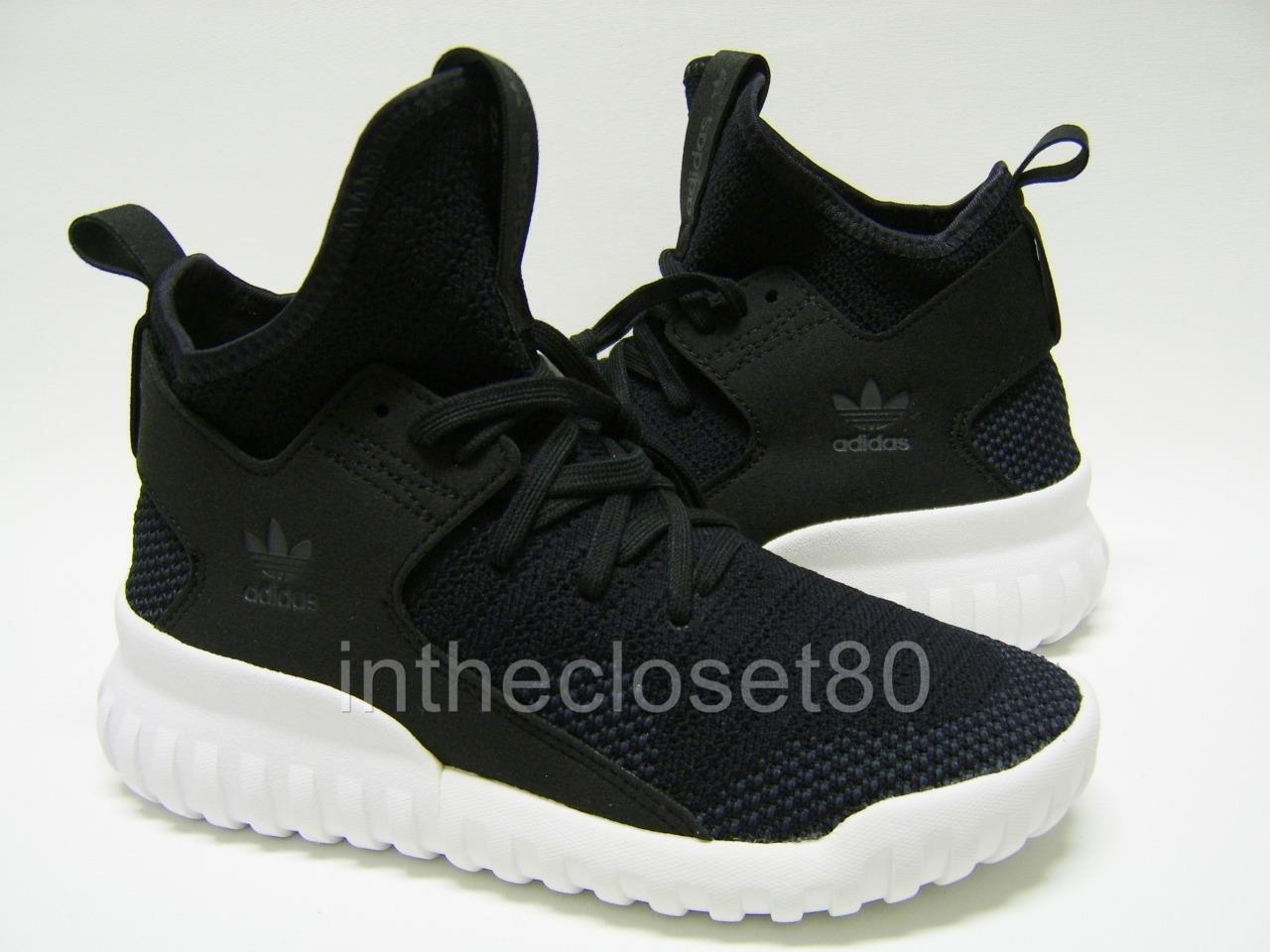 Adidas Tubular X PrimeKnit  Black Grey Juniors Womens Girls Boys Trainers S76038