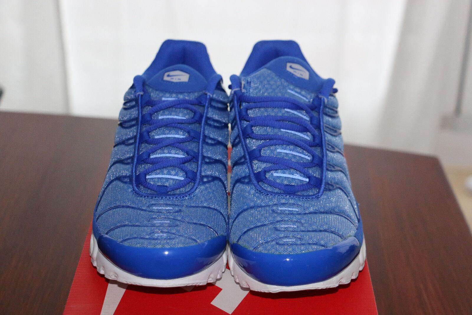 Nike Air Max TN Plus US 11 Racer Blau Weiß TXT