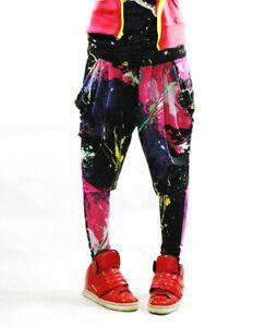 Kawaii Ropa Harajuku Pantalones Pantalones Splatoon Pintura Danza Jazz Hip Hop Harem Ebay