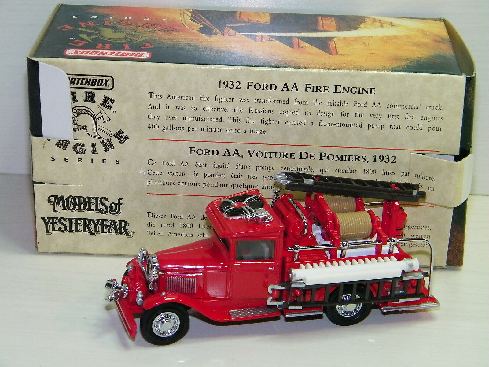 MATCHBOX - FORD AA 1932 FIRE ENGINE POMPIERS