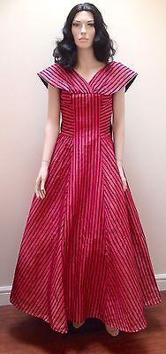 1950 S Taffetà Rosa Shocking E Floccati In Velluto Nero S-m-mostra Il Titolo Originale Ultimi Design Diversificati