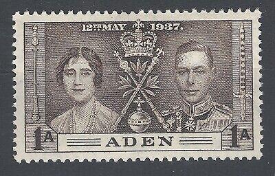 Selfless Aden Gvi 1937 Coronation Sg13 Lmm Exquisite Craftsmanship; British Colonies & Territories Aden (until 1967)