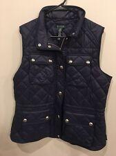 Lauren Ralph Lauren Sleeveless Navy Blue Quilted Vest, Medium