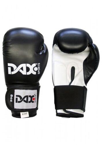 BOX KICK BOXE. Dax Junior Nero Dax-Sports-Guantoni da boxe 6oz-8oz