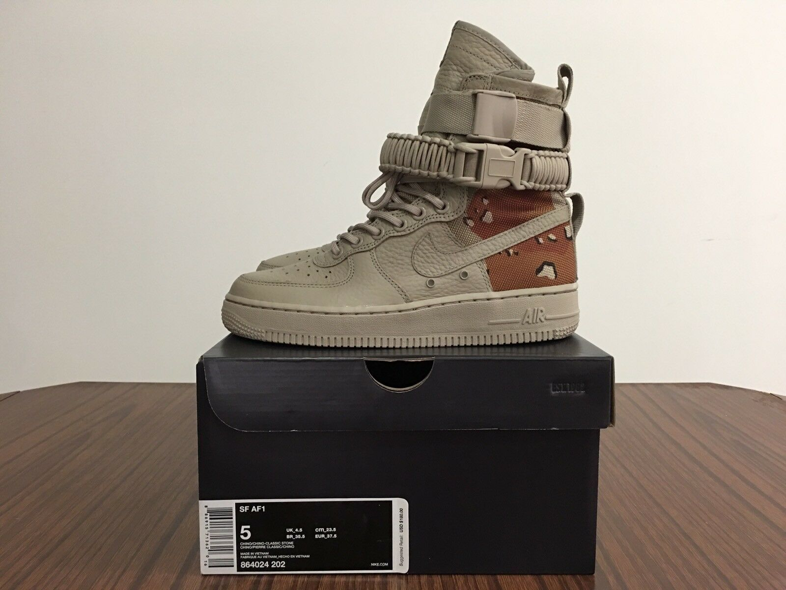 Nuove nike air force one 1 af1 speciale campo deserto mimetico chino - 864024202 sf