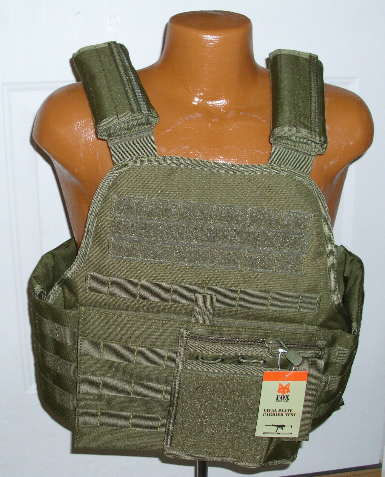 Tactical  Modular Vital MOLLE Plate Armor Carrier Vest - OD GREEN OLIVE DRAB  considerate service