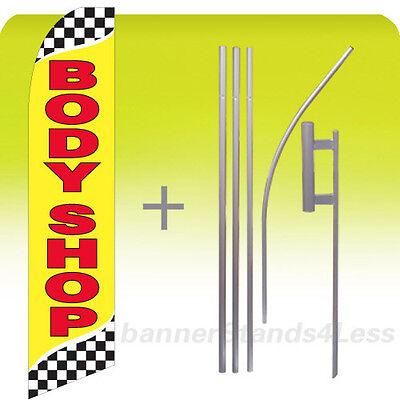 rb FIREWORKS Swooper Flag KIT Feather Flutter Banner Sign 15/' Tall