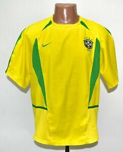 BRAZIL NATIONAL TEAM 2002/2003/2004 HOME FOOTBALL SHIRT JERSEY NIKE SIZE M ADULT