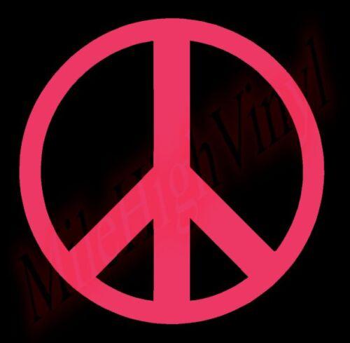 PICK COLOR SIZE Peace Sign Symbol Vinyl Decal Window Glass Sticker